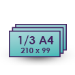 210mm x 99mm 1/3 A4