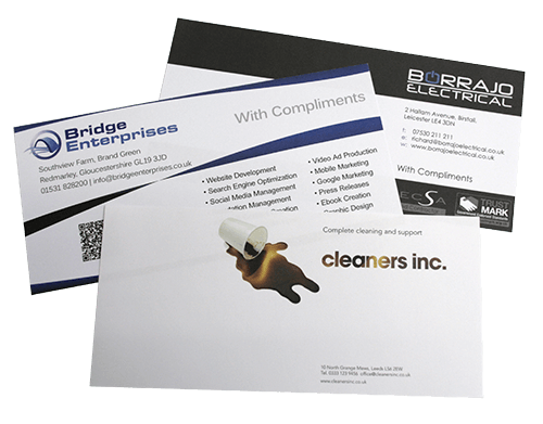 Uk business stationery printing services flexpress leicester compliment slips reheart Image collections