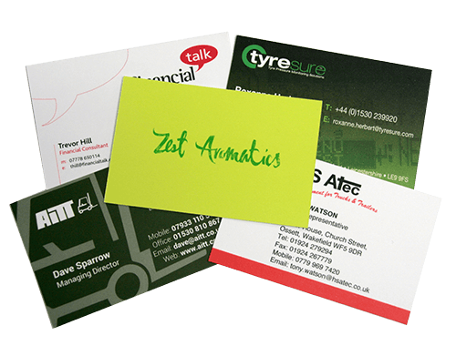Online business card printing service flexpress leicester 400gsm laminated business cards reheart Images