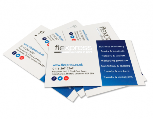 Online business card printing service flexpress leicester 400gsm metallic foiled cards reheart Gallery